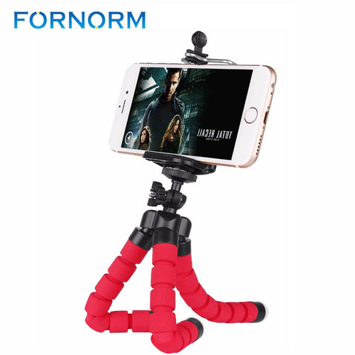 Mini Portable Flexible Tripod with Phone Holder Bracket Stand Tripod Kit for iPhone6s 7 Xiaomi Samsung HTC Cellphone DSLR