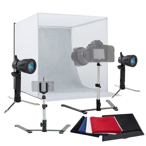 60cm Photography Lighting Tent Kit Backdrop Mini Box Light Room Photo Studio