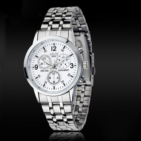 1PC Luxury Waterproof Stainless Steel Quartz Women Wrist Watch Jewelry