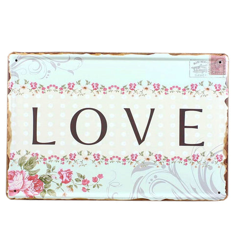 [LOVE] Vintage Home/Cafe/Bar Wall Decoration Mental Painting Wall Murals