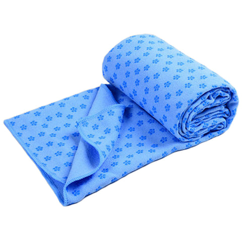 "72""""x24"""" Absorbent Microfiber Non-Slip Yoga Towel Yoga Mat Towels+Carry Bag, Blue"