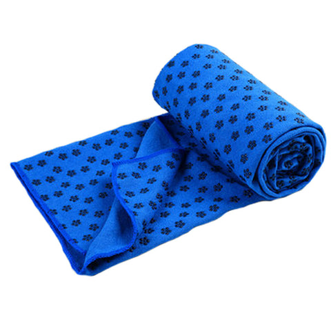 "72""""x24"""" Microfiber Non-Slip Yoga Towel Yoga Mat Towels + Carry Bag, Deep Blue"