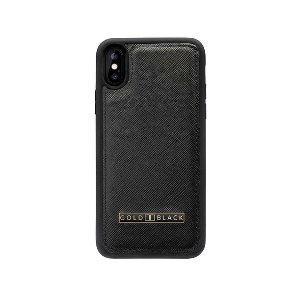 iPHONE XS CASE SAFFIANO BLACK