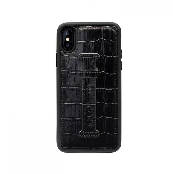 iPHONE XS FINGER-HOLDER CASE CROCO
