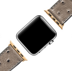 APPLE WATCH BAND OSTRICH / GOLD 42mm