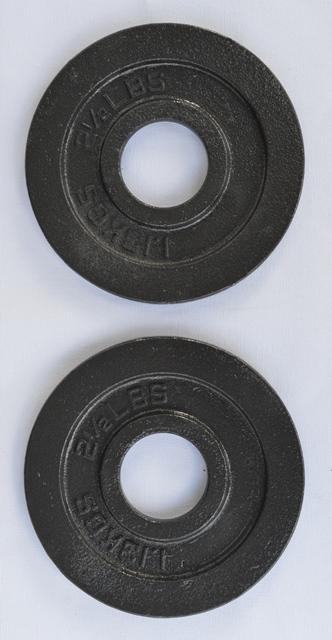 Pro Metal Olympic Plates - 2.5 Lbs (Pair)