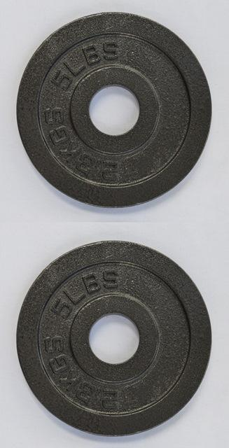 Pro Metal Olympic Plates - 5 Lbs (Pair)
