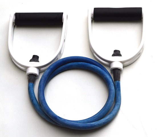 Resistance Tube Band with Handles - Heavy (Blue)