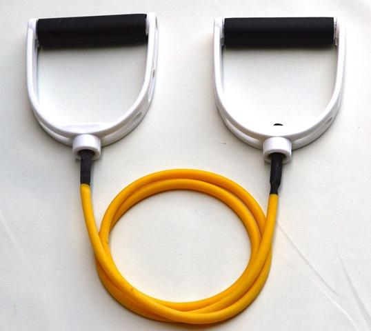 Resistance Tube Band with Handles - Extra Light (Yellow)