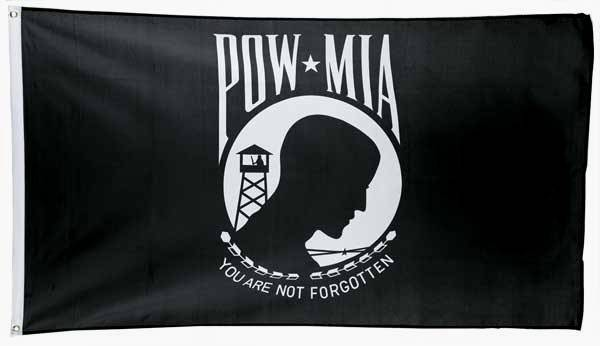 3'x5' POW-MIA Nylon Flag (Single)