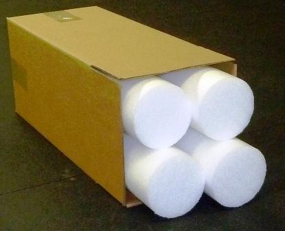 (4) 24x6 Inch Firm Density Foam Roller - White