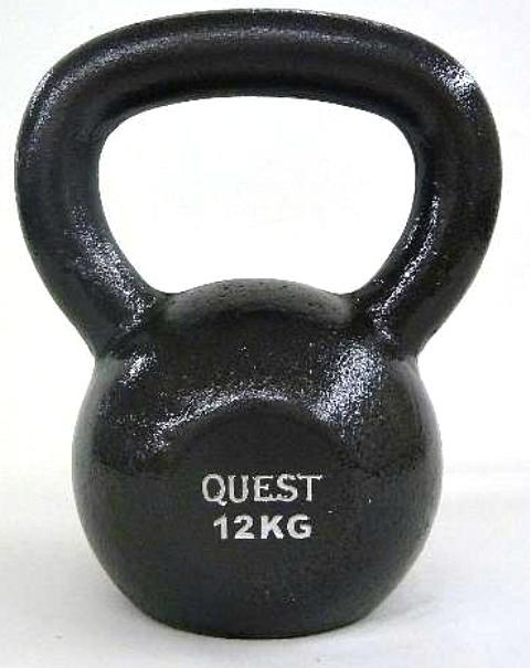 Quest Cast Iron Kettlebell - 12KG/26LB