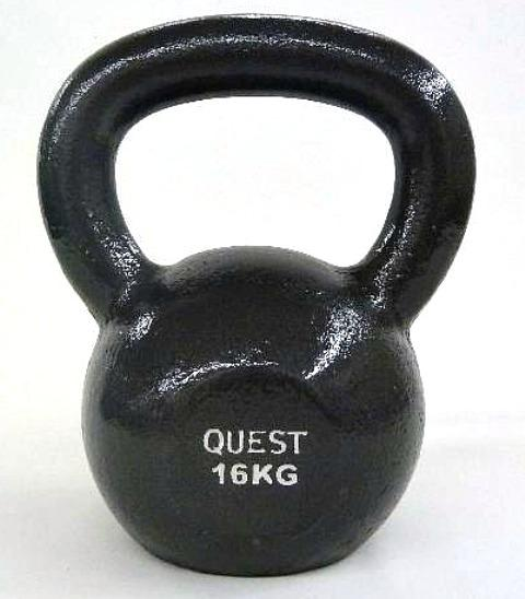 Quest Cast Iron Kettlebell - 16KG/35LB