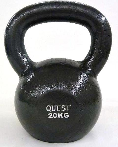Quest Cast Iron Kettlebell - 20KG/44LB