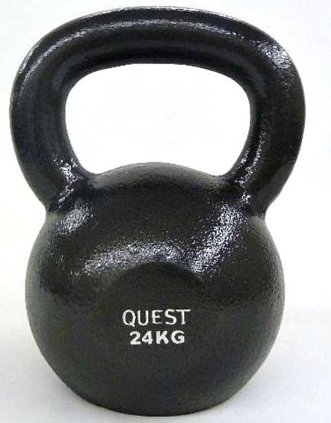 Quest Cast Iron Kettlebell - 24KG/53LB