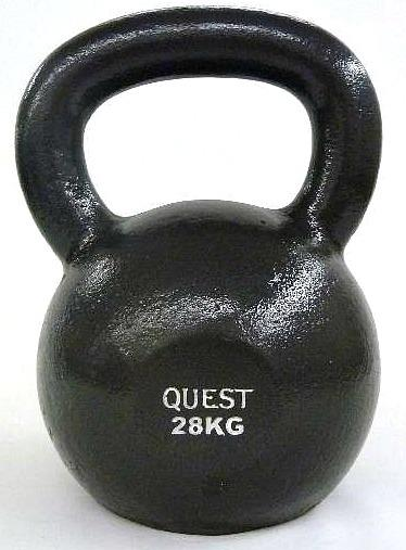 Quest Cast Iron Kettlebell - 28KG/62LB
