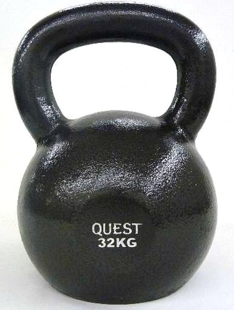 Quest Cast Iron Kettlebell - 32KG/70LB