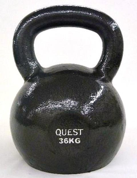 Quest Cast Iron Kettlebell - 36KG/80LB