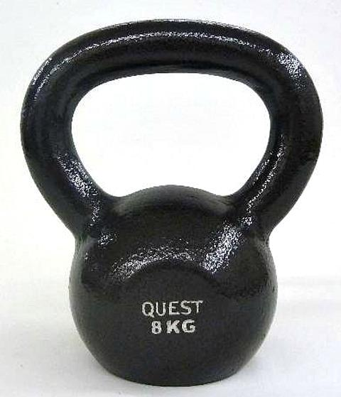 Quest Cast Iron Kettlebell - 8KG/18LB