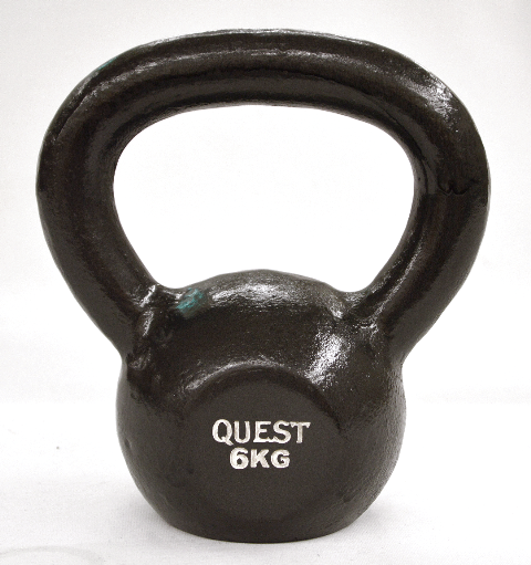 Quest Cast Iron Kettlebell - 6KG/13LB