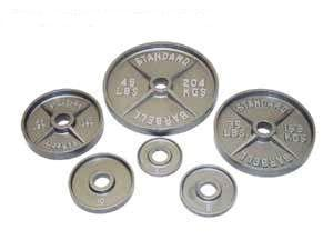 Pro WIDE LIP Metal Olympic Plates - 245 Lbs Set