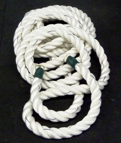 2.0 Inch Polyester Battle Rope - WHITE