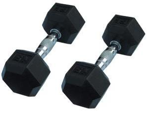Rubber Hex Dumbbells (by Pair)