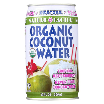 Nature Factor Organic Coconut Water - Case Of 12 - 10.1 Fl Oz.