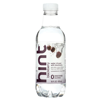 Hint Blackberry Water - Blackberry - Case Of 12 - 16 Fl Oz.