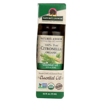 Natures Answer Essential Oil - Organic - Citronella - .5 Oz