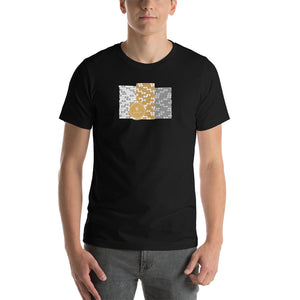 Poker Chip Stacks Short-Sleeve T-Shirt (Gold Edition)
