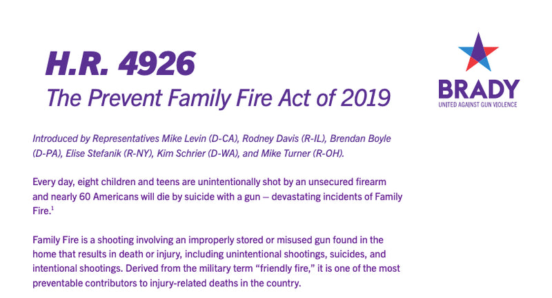 The Prevent Family Fire Act of 2019 (H.R. 4926)