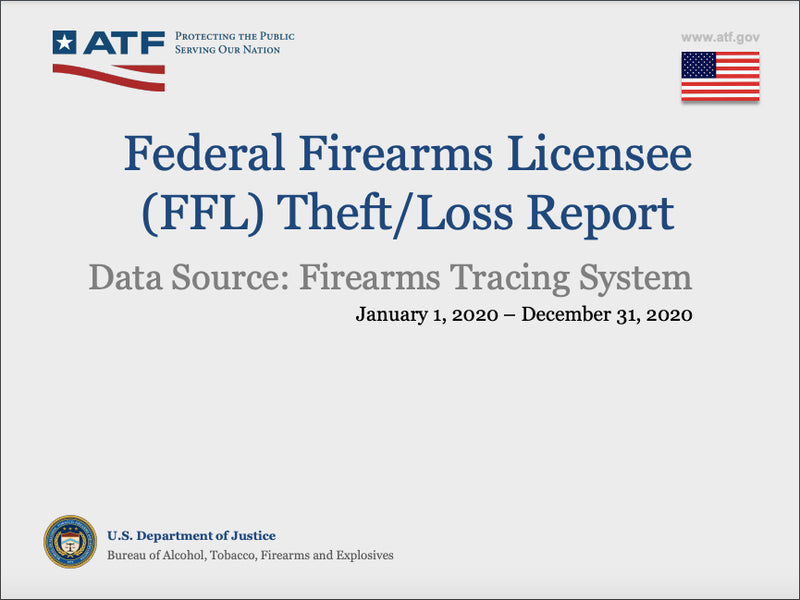 13,173 firearms were stolen / lost (and not returned) in 2020. 7,180 were thefts.