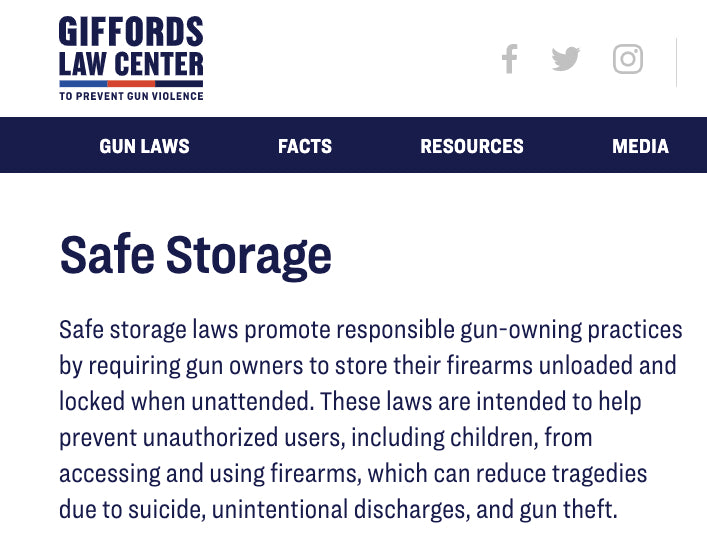Giffords Law Center to Prevent Gun Violence   |   Safe Storage