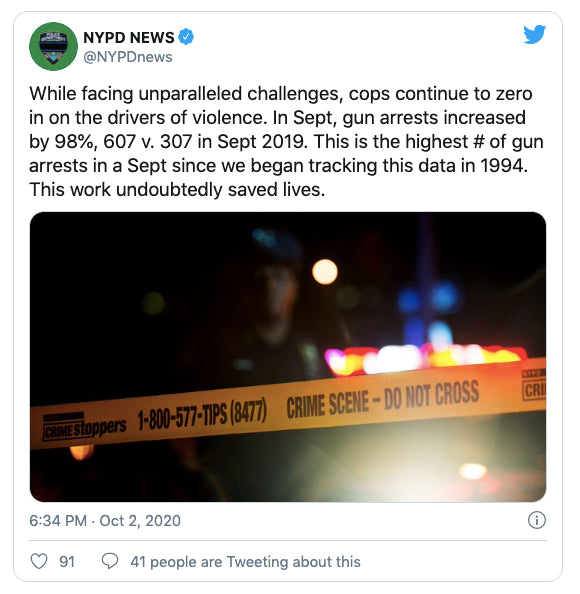 NYPD - October 3rd, 2020  |