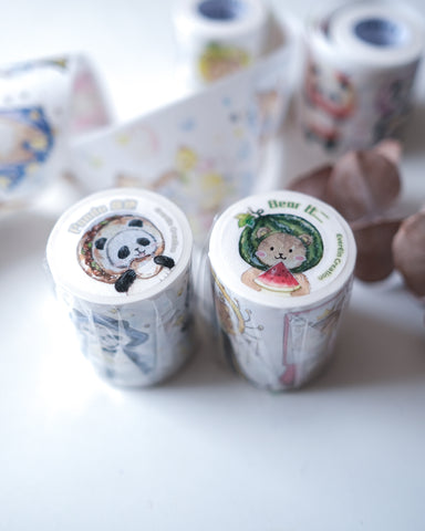 EverEin Panda & Bear Washi Set