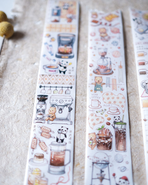 EverEin Bear Cafe Washi Set