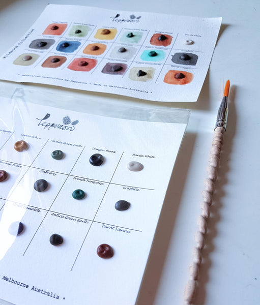 Handmade Watercolor Paint Sample Dot Cards - Wildwood Collection