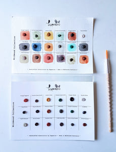 Handmade Watercolor Paint Sample Dot Cards- Wild Wood Collection