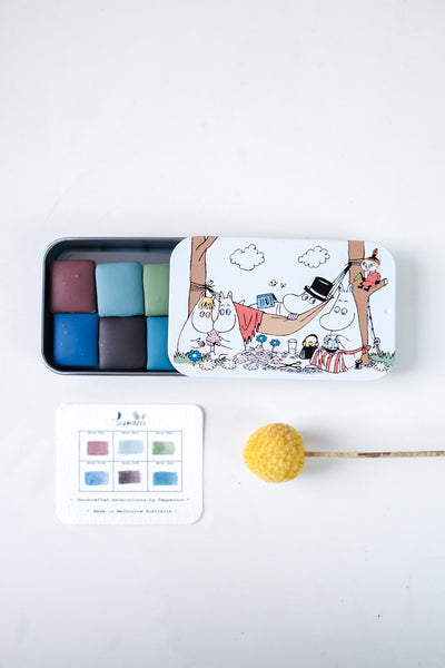 Matsu Fuyu 松 ふゆ Set (half-pans ) - Special Edition with Moomin Tin