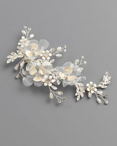 Delicate Tulle & Floral Hair Clip