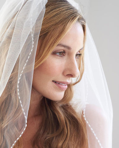 1 Layer - Clara Delicate Beaded Wedding Veil