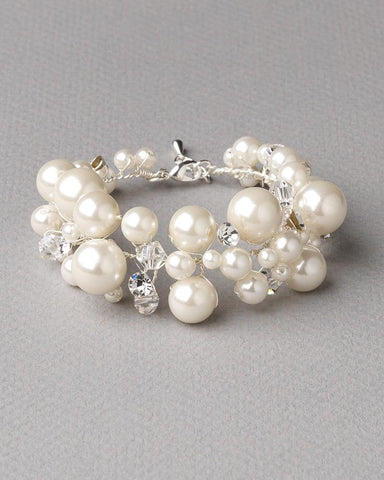 Scattered Pearl & Crystal Bracelet