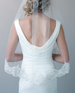 Claudia Lace and Beaded Veil