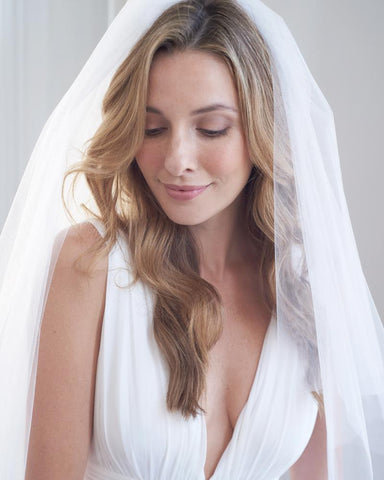 Two Tier Cut Edge Wedding Veil