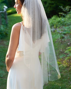 Simple Cut Edge Veil