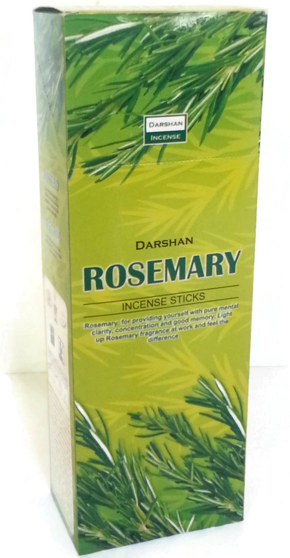 Rosemary Incense, 120 Sticks in a Six Pack, Hand Made in India.