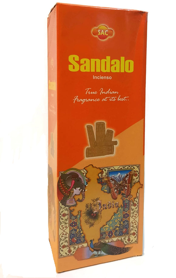 Incense Sandalo, Six Pack of 20 Sticks, Handmade in India.