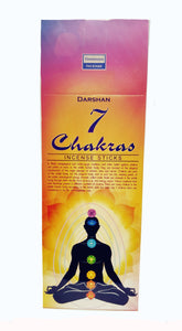 7 Chakras Incense Sticks 6 Pack Box Home Aroma Incense Darshan.
