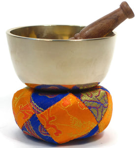 "Golden Tibetan Singing Bowl 3.5"" Beautiful Sound For Healing And Relaxation."